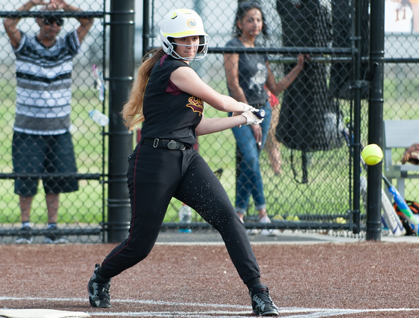 05/17/18 Wesley Bunnell   Staff New Britain softball defeated Wethersfield on Thursday afternoon at Chesley Park. Valentina Hernandez (7).