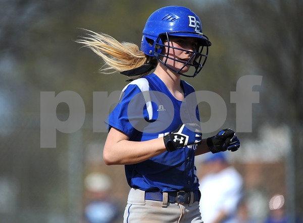 5/2/2018 Mike Orazzi | Staff Bristol Eastern's Jordan Fitzsimons (10) during Wednesday's softball with Bristol Central at BE.