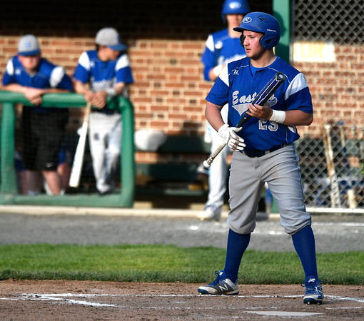 5/2/2018 Mike Orazzi | Staff Bristol Eastern's Josh Nohilly (29) during Wednesday's baseball game with Bristol Central at Muzzy Field.