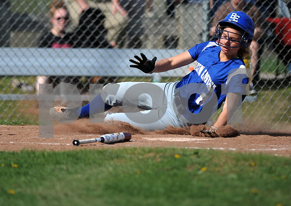 5/2/2018 Mike Orazzi | Staff Bristol Eastern's Zoe Lowe (8) during Wednesday's softball with Bristol Central at BE.