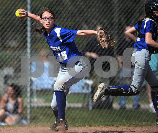5/2/2018 Mike Orazzi | Staff Bristol Eastern's Jenna Winters (16) during Wednesday's softball with Bristol Central at BE.