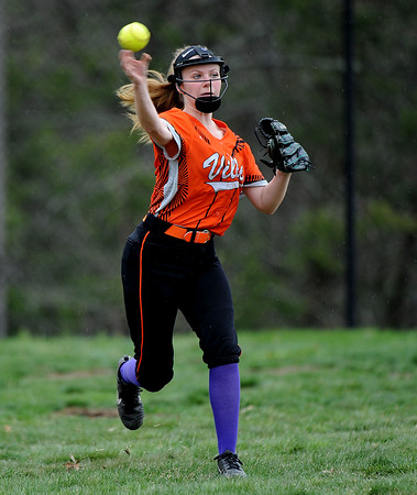 5/3/2018 Mike Orazzi | Staff Terryviile's Lacy Lyons (16) during Thursday's softball game in Plymouth.