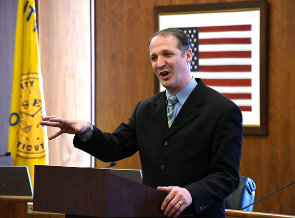 5/3/2018 Mike Orazzi | Staff Rev. Todd Williams, Bridge Community Church, during the National Day of Prayer Program held at Bristol City Hall Thursday afternoon.