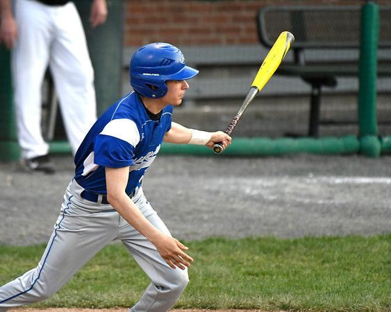 5/2/2018 Mike Orazzi | Staff Bristol Eastern's Carson Sassu (1) during Wednesday's baseball game with Bristol Central at Muzzy Field.
