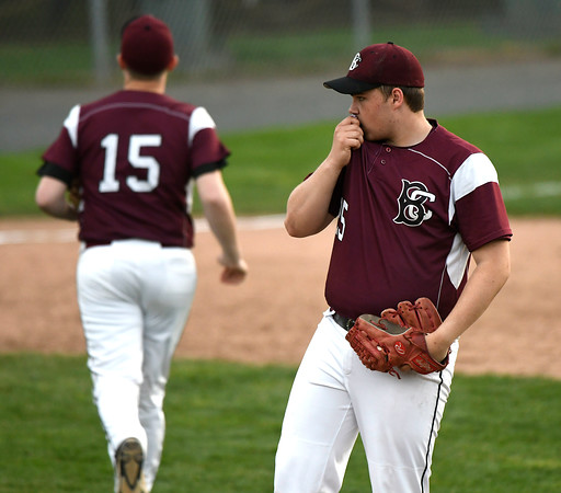 5/2/2018 Mike Orazzi | Staff Bristol Central's Stephen Warkoski (25) during Wednesday's baseball game with Bristol Eastern at Muzzy Field.