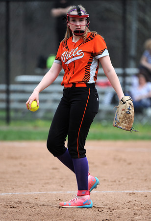 5/3/2018 Mike Orazzi | Staff Terryville's Tiffany Pires (10) during Thursday's softball game with Wamogo in Plymouth.