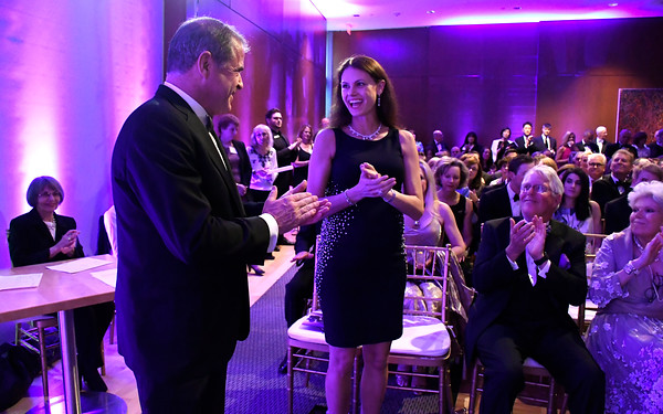 5/5/2018 Mike Orazzi | Staff Rebecca and James Loree, President & CEO of Stanley Black & Decker, Honorary Co-Chairs. during the NBMAA 18th annual spring gala and auction, The Art Party of the Year, held Saturday night in New Britain.