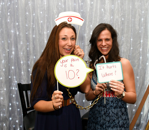 5/9/2018 Mike Orazzi | Staff Bristol Hospital's Nicole Pensiero and Brooke Kayan during Bristol Hospital's 2nd Annual Nurses' Dinner held at the DoubleTree by Hilton Wednesday evening.