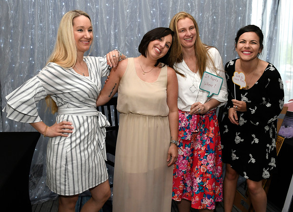 5/9/2018 Mike Orazzi | Staff Meagan DeFazio, Deann Drury, Jennifer Foss and Victoria Pasqualicchio during Bristol Hospital's 2nd Annual Nurses' Dinner held at the DoubleTree by Hilton Wednesday evening.