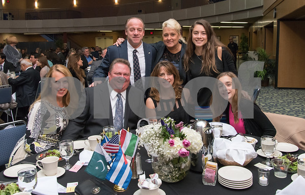 11/4/17 Wesley Bunnell | Staff The Immigrant Heritage Hall of Fame inducted 6 members on Saturday evening at Alumni Hall at CCSU. Members of the Tomasso family at their dinner table.