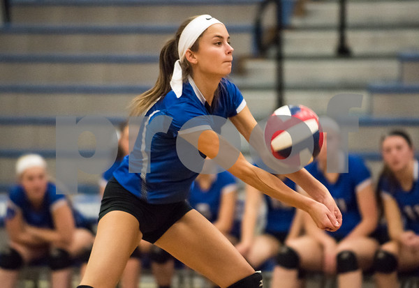 11/15/17 Wesley Bunnell | Staff Southington girls volleyball vs Greenwich in a semi final match played at Bunnell High School in Stratford on Wednesday evening. Brooke Cooney (17).