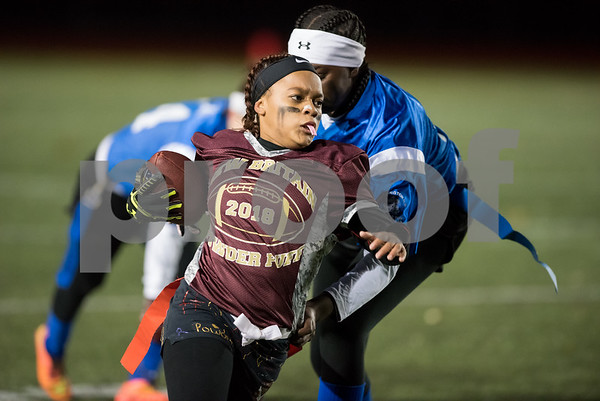 11/22/17 Wesley Bunnell   Staff Southington defeated New Britain in the annual Powder Puff game at Veterans Stadium in New Britain on Wednesday night. Nariely Andujar (6).