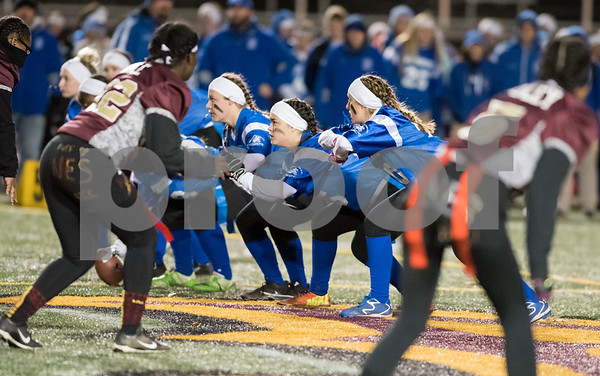 11/22/17 Wesley Bunnell   Staff Southington defeated New Britain in the annual Powder Puff game at Veterans Stadium in New Britain on Wednesday night.