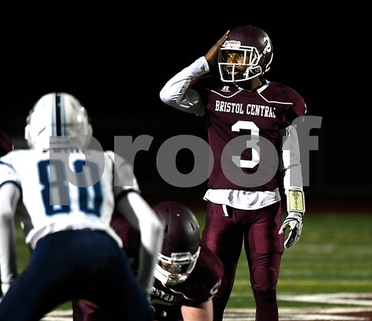 11/9/2017 Mike Orazzi | Staff Bristol Central's Dathan Hickey (3) against East Catholic at BC Thursday night.