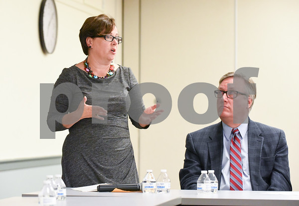 10/02/17 Wesley Bunnell   Staff The NAACP held a question-and-answer session for for Bristol Mayor candidates Ellen Zoppo-Sassu and incumbent Ken Cockayne as well as the 12 candidates for city council on Monday evening at the Bristol Public Library. Ellen Zoppo-Sassu addresses the audience.