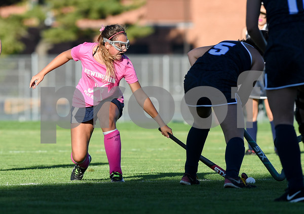 10/10/17 Wesley Bunnell | Staff Easton vs Newington field hockey on Tuesday afternoon at Newington High School. McKenna DeLuca (7).