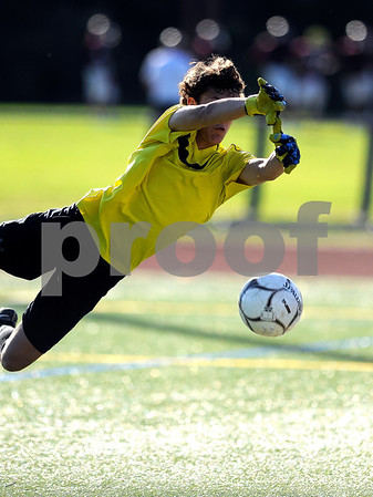 10/10/2017 Mike Orazzi | Staff New Britain's Adam Gottner (GK) during Tuesday's soccer at Bristol Central.