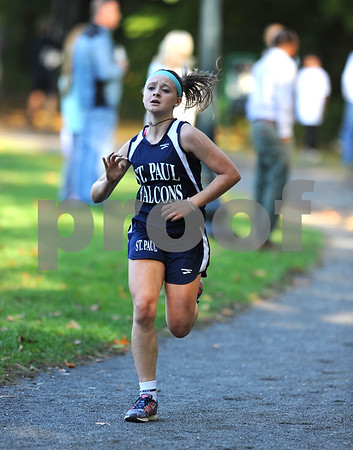 10/12/2017 Mike Orazzi   Staff St. Pauls Kailyn Beliecki during the city cross country meet Thursday afternoon in Rockwell Park.