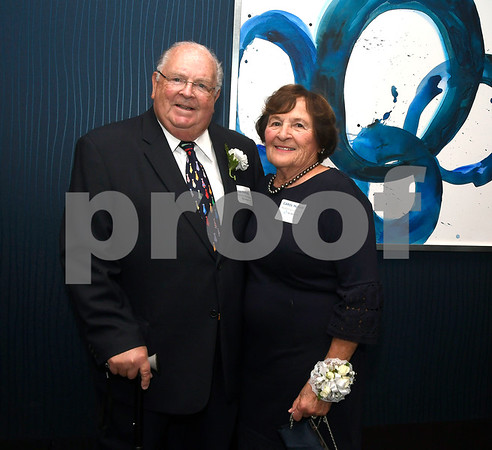 10/12/2017 Mike Orazzi | Staff Humanitarian Awards recipients Ted and Carol McPhee during The Boys & Girls Club of Bristol Family Center's 33rd Annual Humanitarian Awards Dinner held at the DoubleTree by Hilton Hotels in Bristol Thursday evening. Jan Neri and the other McPhee family members also received humanitarian service awards,