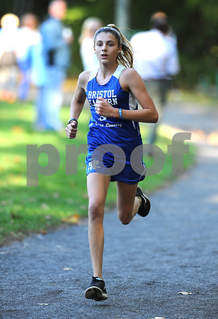 10/12/2017 Mike Orazzi | Staff Bristol Easterns Avery Braccia during the city cross country meet Thursday afternoon in Rockwell Park.