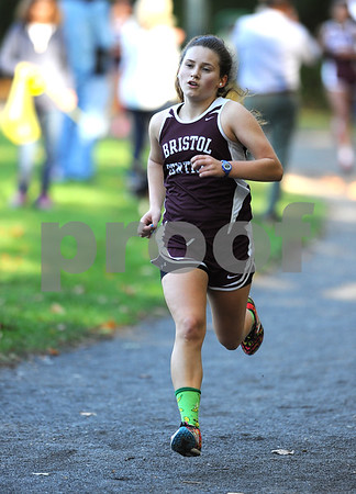 10/12/2017 Mike Orazzi   Staff Bristol Centrals Alexandra Sirko during the city cross country meet Thursday afternoon in Rockwell Park.