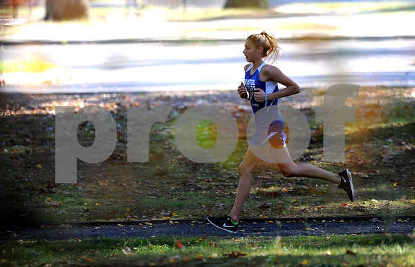 10/12/2017 Mike Orazzi   Staff Bristol Easterns Avery Braccia during the city cross country meet Thursday afternoon in Rockwell Park.
