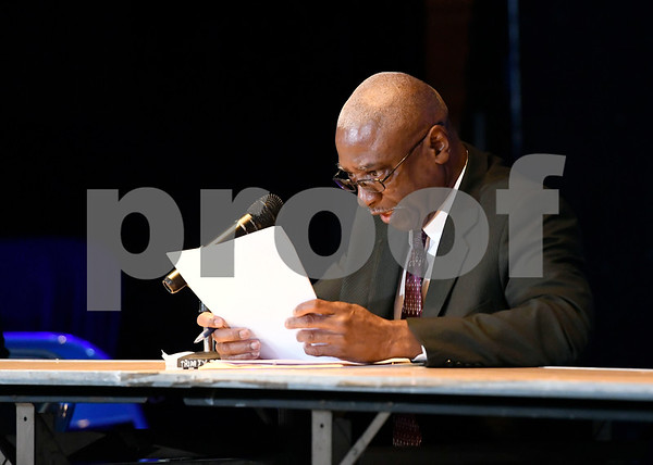 10/14/2017 Mike Orazzi | Staff New Britain Mayoral candidate Al Mayo during The League of Women Voters debate held at Trinity on Main Saturday afternoon.