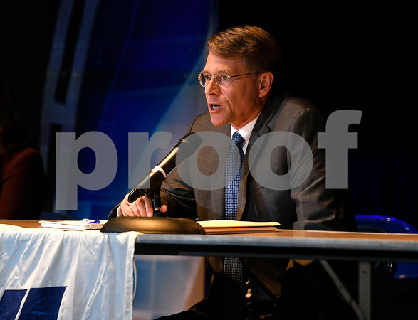 10/14/2017 Mike Orazzi | Staff New Britain Mayoral candidate Merrill Gay during The League of Women Voters debate held at Trinity on Main Saturday afternoon.