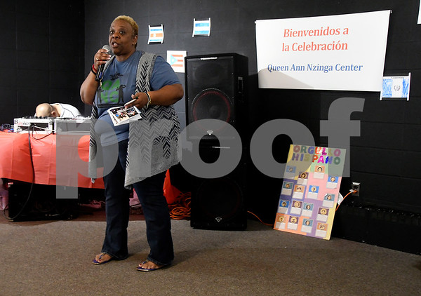 10/14/2017 Mike Orazzi | Staff Queen Ann Nzinga Center Executive Director Dayna R. Snell during the annual Hispanic Heritage Celebration Saturday held at Trinity-on-Main.