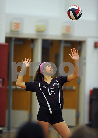 10/18/2017 Mike Orazzi | Staff Bristol Central's Gwen Torreso (15) during Wednesday's volleyball match at BC.