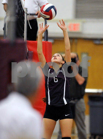 10/18/2017 Mike Orazzi | Staff Bristol Central's Taylor Patnode (6) during Wednesday's volleyball match at BC.