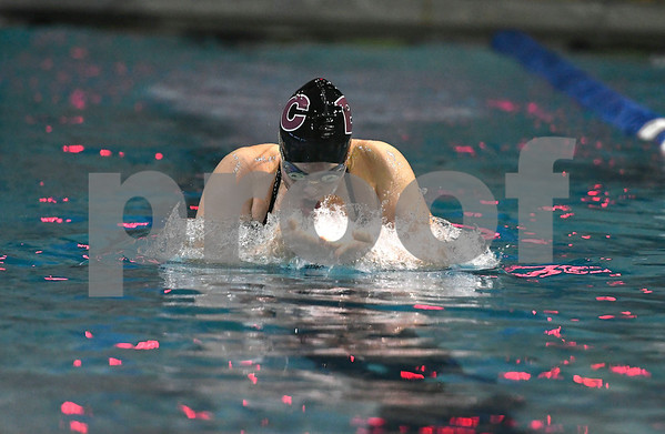10/24/2017 Mike Orazzi | Staff Bristol Central's Ailey Driscoll during Tuesday's swim meet with Eastern.