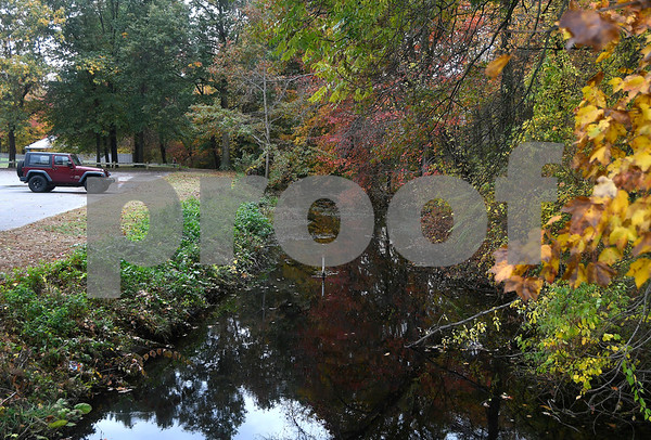 10/25/2017 Mike Orazzi | Staff The Farmington Canal in Plainville's Norton Park.