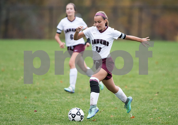 10/25/17 Wesley Bunnell | Staff Innovation girls soccer defeated Bassick on Wednesday afternoon on senior day. Kelsey Walicki (13).