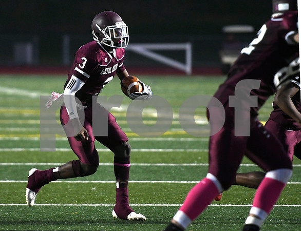 10/27/2017 MIke Orazzi | Staff Bristol Central's Dathan Hickey (3) against CapitalPrep/Achievement at BC Friday night.