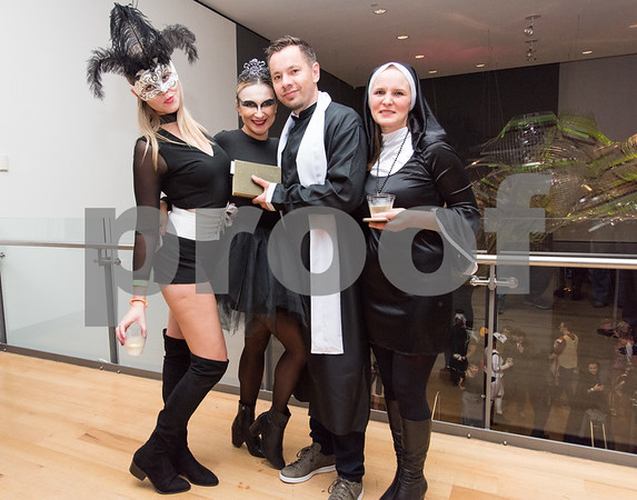 10/27/17 Wesley Bunnell | Staff The New Britain Museum of American Art held their Museum After Dark 11th Annual Halloween Bash on Friday evening. Felicia Eltman, L, Agnes Jaskiewicz, Jakub Niewandonski and Anna Pycinska.