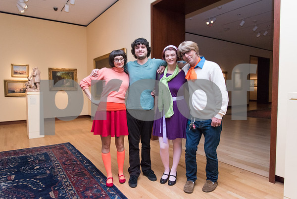 10/27/17 Wesley Bunnell | Staff The New Britain Museum of American Art held their Museum After Dark 11th Annual Halloween Bash on Friday evening. Staci Detwiler, L, Jack Renna, Maria Porpora and Bill Porpora.