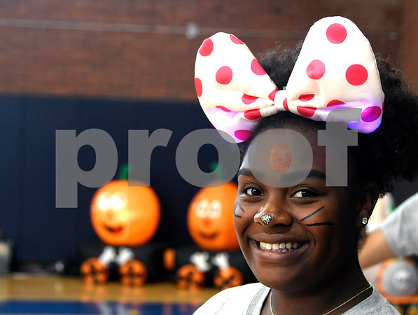 10/28/2017 Mike Orazzi | Staff Azhanai Tullis during the 13th Annual Halloween Spooktacular at the Slade Middle School in New Britain Saturday.