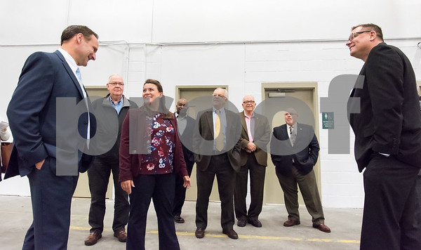 10/30/17 Wesley Bunnell | Staff Makino, Inc. held a ribbon cutting on Monday afternoon at its new facility on Myrtle Street. Vice President of Die Mold Andre Ey, L, Regional Manager Barry Boman, Mayor Erin Stewart, candidate for Alderman Jason Gibson, Economic Development Director Bill Carroll, Alderman Don Naples, Executive Director of New Britain Downtown District Gerry Amodio and Consumables Sales and Operations Manager Tom Kucharski.