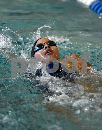 10/3/2017 Mike Orazzi | Staff Plainville's Isabella Samperi during Tuesday's swim meet with Bristol Eastern.