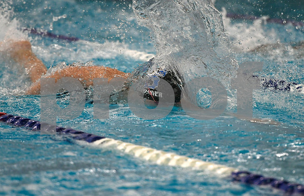 10/4/2017 Mike Orazzi | Staff Southington's Olivia Fournier during Wednesday's swim meet with Hall in Southington.