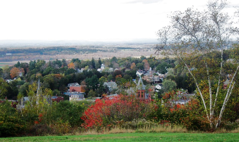 Vernon 2 View from Fox Hill of downtown Rockville and Ellington countryside Denise