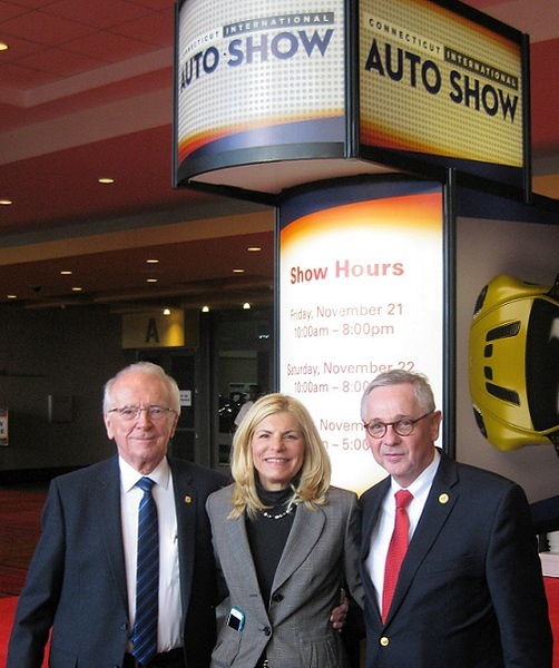 Ken Crowley Linda Kowalski and Jim Fleming at 2014 Auto Show-CROPPED