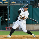 051117  Wesley Bunnell | Staff  New Britain Bees won in a 9th inning walk off home run by Conor Bierfeldt (28) on Thursday evening 4-3 over the Long Island Ducks. Craig Maddox (24) with a ba ...