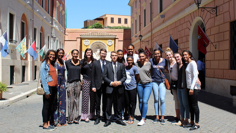 UConn trip to Italy