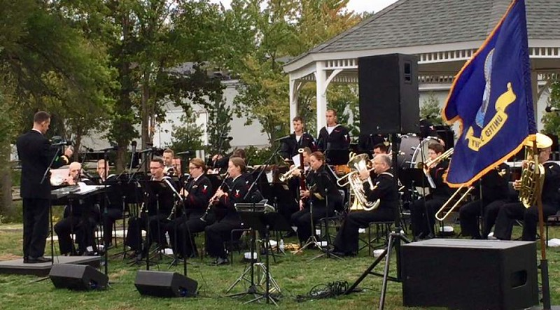 Navy Band at Vets Park 1