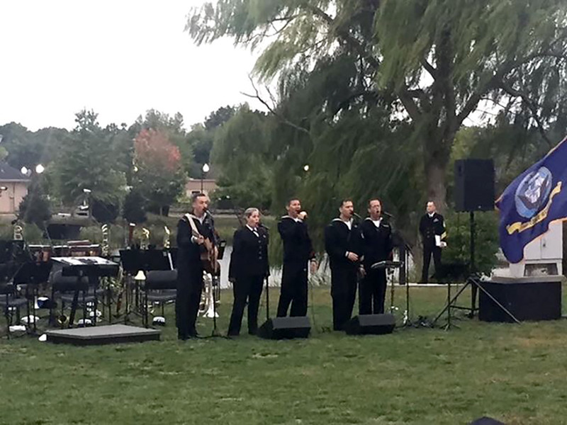 Navy Band at Vets Park 2