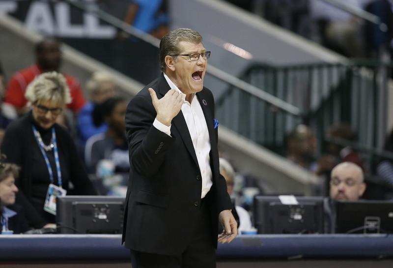 UConn women's basketball head coach Geno Auriemma
