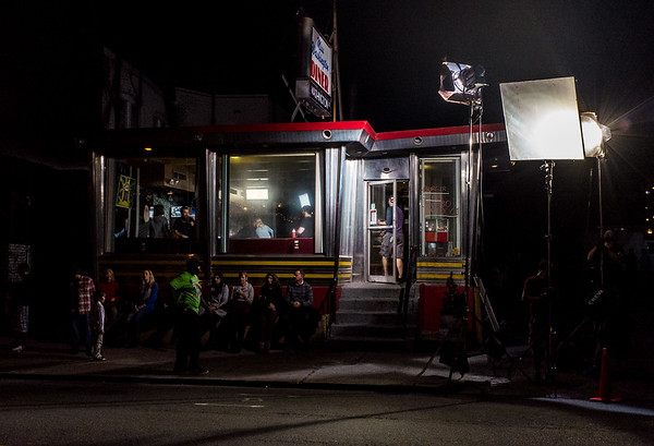 Wesley Bunnell | Staff Filming was done at locations including the Miss Washington Diner in August.