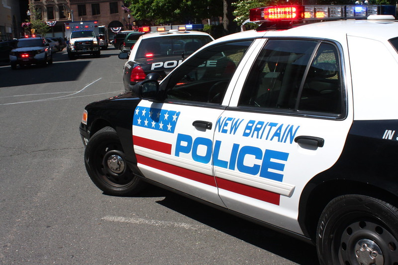 New Britain police car